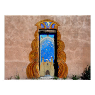 Doorway to Santa Fe Poster