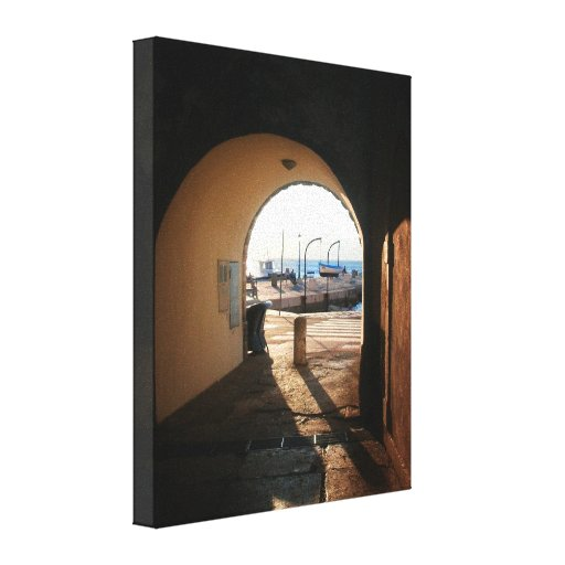 doorway to sea gallery wrapped canvas