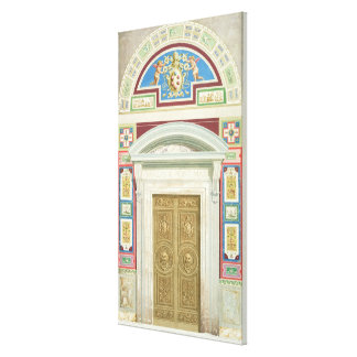 Doorway to the Raphael Loggia at the Vatican, from Canvas Print