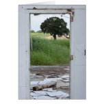Doorway Tree Greeting Card