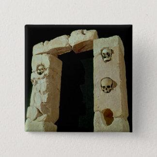 Doorway with Skulls Pinback Button