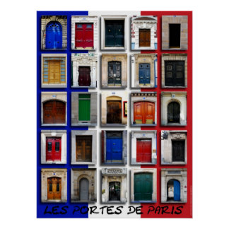 Doorways of Paris Poster