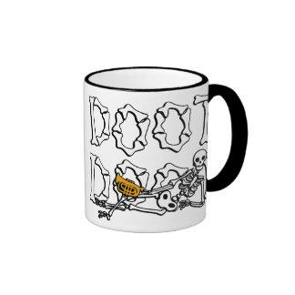 Doot Doot Skeleton Ringer Mug