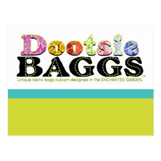 DootsieBAGGS logo gifts Postcard