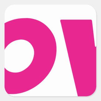 DOOVDE DVD Player Fonejacker Square Sticker