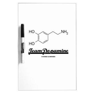 Dopamina del equipo (molécula química de la pizarra