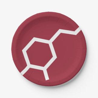 Dopamine Molecule - Love Paper Plate