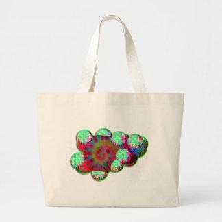 Dopamine molecule psychedelic canvas bag
