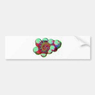 Dopamine molecule psychedelic bumper sticker