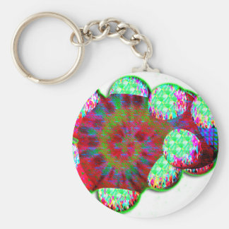 Dopamine molecule psychedelic keychain