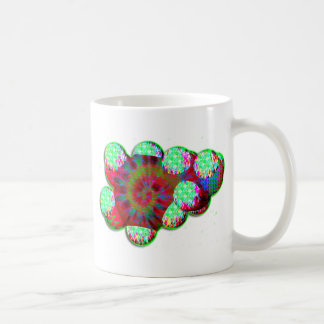 Dopamine molecule psychedelic classic white coffee mug