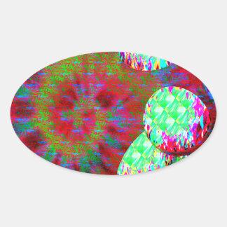 Dopamine molecule psychedelic oval sticker