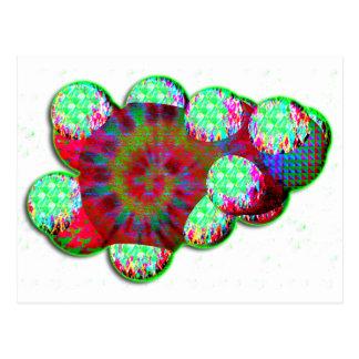 Dopamine molecule psychedelic postcard