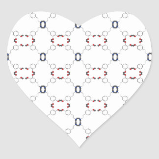 Dopamine Pattern Heart Sticker