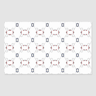 Dopamine Pattern Rectangular Sticker