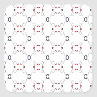 Dopamine Pattern Square Sticker