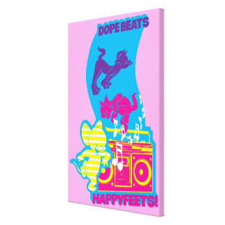 Dope Beats Happy Feets Canvas Print