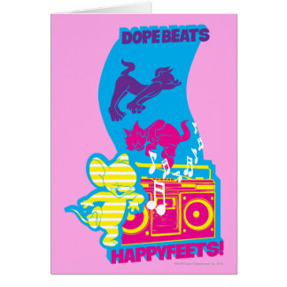 Dope Beats Happy Feets Cards