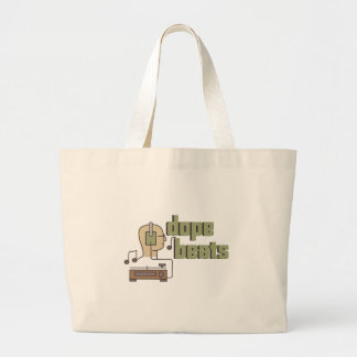 Dope Beats Large Tote Bag