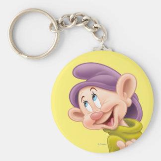 Dopey 3 basic round button keychain