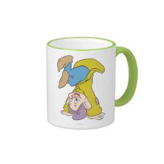 Dopey Doing a Head Stand Ringer Mug