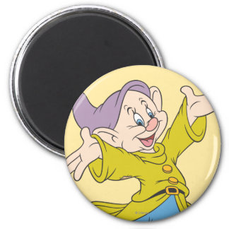 Dopey Jumping 2 Inch Round Magnet