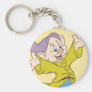 Dopey Jumping Basic Round Button Keychain