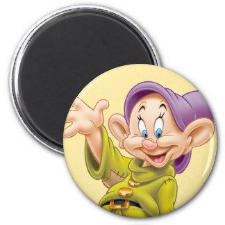 Dopey Waving 2 Inch Round Magnet