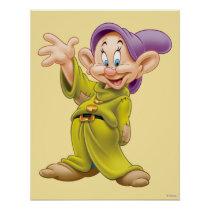 Dopey Waving Poster