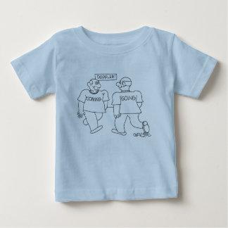 Doppler: man: 'coming' passes man 'going' baby T-Shirt