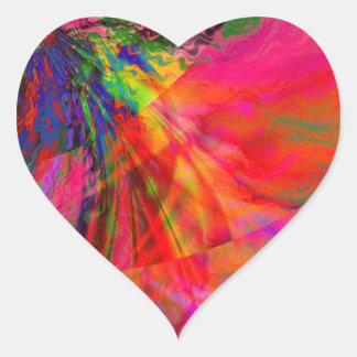 Doppler Heart Stickers