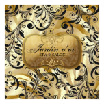 """d'or 311-Jardin con el vale de la cebra Invitación 5.25"""" X 5.25"""""""