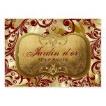d'or 311-Jardin con la tarjeta roja de la cita de  Tarjeta De Visita