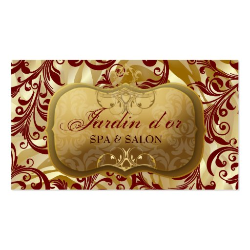 d'or 311-Jardin con rojo de la cebra Tarjetas De Visita