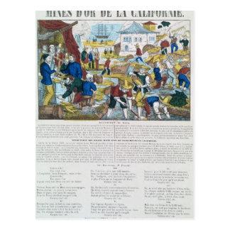 'd'Or de la Californie' de las minas Tarjeta Postal