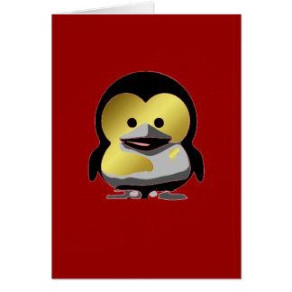 d'Or de Tux del bebé de Linux Tarjeta De Felicitación