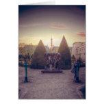 D'or del l'heure del à de Rodin jardin du musée Tarjeta De Felicitación
