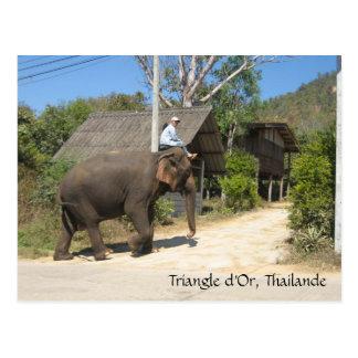 d'Or del triángulo, Thailande Tarjetas Postales