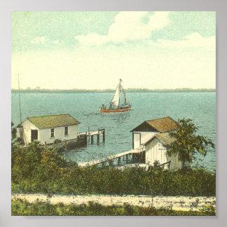 DORA del SOPORTE, FL - casa barco Row, 1907 Posters