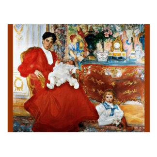 Dora Lamm with Children Postcard