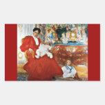 Dora Lamm with Children Rectangular Stickers