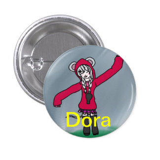 Dora the Door mouse Pinback Buttons
