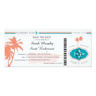 Dorado Beach Puerto Rico Boarding Pass Card