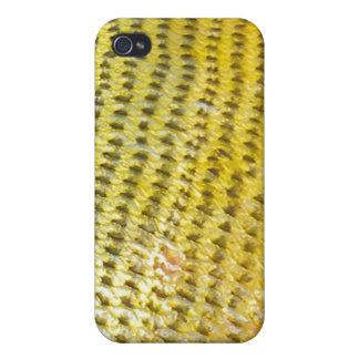 Dorado de oro - caso de IPhone de la piel de los p iPhone 4/4S Carcasa
