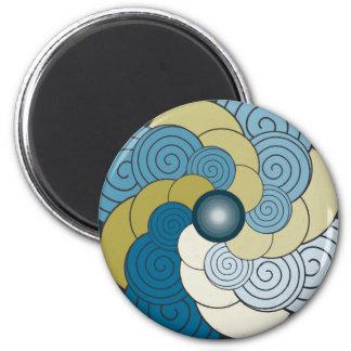 Dorado del azul del En Espiral. Imán