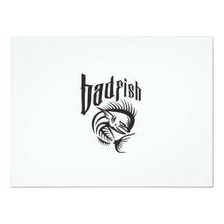 Dorado Dolphin Fish Angry Skeleton Badfish Retro Card