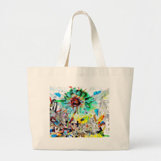 Doraelia Ruiz Collection Neo, Neon colorful city Tote Bag