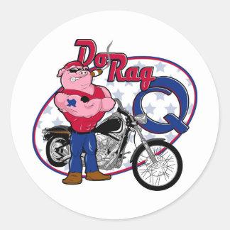 dorag classic round sticker