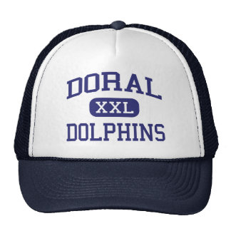Doral Dolphins Middle School Miami Florida Mesh Hat