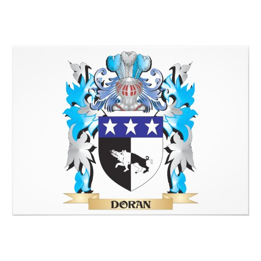 Doran Coat of Arms - Family Crest Card